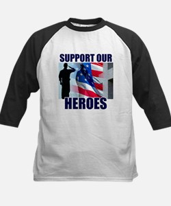 Support Our Heros Kids Baseball Jersey