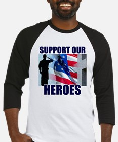 Support Our Heros Baseball Jersey