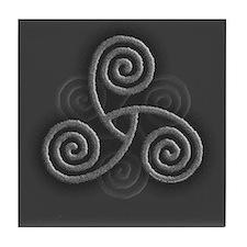 Celtic Triple Spiral Tile Coaster