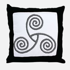 Celtic Triple Spiral Throw Pillow