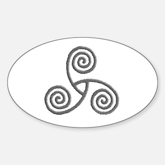 Celtic Triple Spiral Sticker (Oval)