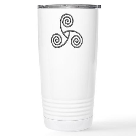 Celtic Triple Spiral Stainless Steel Travel Mug