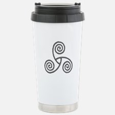 Celtic Triple Spiral Stainless Steel Travel Mug