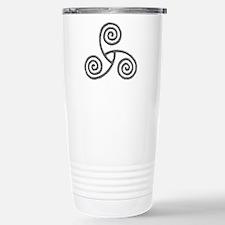 Celtic Triple Spiral Travel Mug