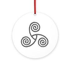 Celtic Triple Spiral Ornament (Round)