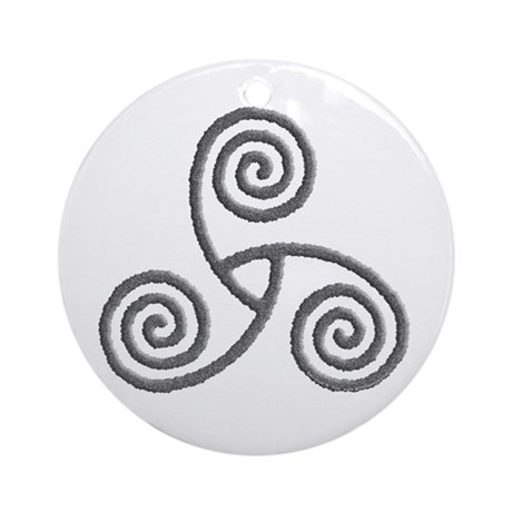 Celtic Triple Spiral Ornament (Round)