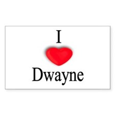 Dwayne Rectangle Decal