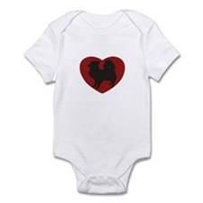 Long Haired Chihuahua Heart Infant Bodysuit