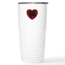 Long Haired Chihuahua Heart Travel Mug