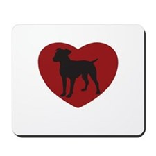 Jack Russel Heart Mousepad