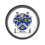 Waters Family Crest Wall Clock