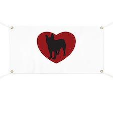 French Bulldog Heart Banner