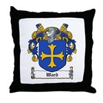 Ward Family Crest Throw Pillow