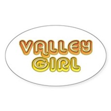 Valley Girl Oval Decal