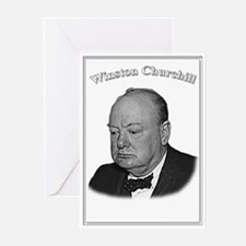 Winston Churchill 01 Greeting Cards (Pk of 10)