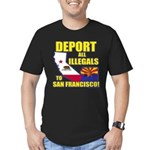 Deport them to San Francisco Men's Fitted T-Shirt