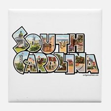 Vintage South Carolina Tile Coaster
