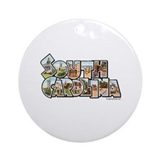 Vintage South Carolina Ornament (Round)