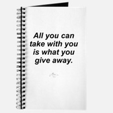 All You Can Take with You Journal
