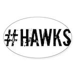 #HAWKS Sticker (Oval 50 pk)