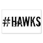 #HAWKS Sticker (Rectangle 50 pk)