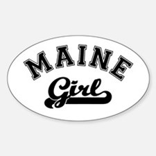 Maine Girl Oval Decal