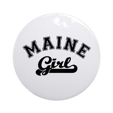 Maine Girl Ornament (Round)