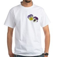 Purple Pansy Flower Shirt for him