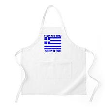 Greece Greek Pride BBQ Apron