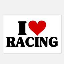 I Heart Racing Postcards (Package of 8)
