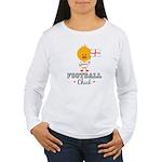 English Soccer Football Chick Women's Long Sleeve