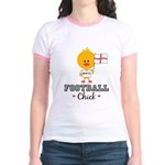 English Soccer Football Chick Jr. Ringer T-Shirt