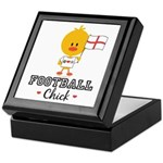 English Soccer Football Chick Keepsake Box