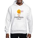 English Soccer Football Chick Hooded Sweatshirt