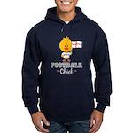 English Soccer Football Chick Hoodie (dark)