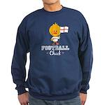 English Soccer Football Chick Sweatshirt (dark)