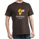 English Soccer Football Chick Dark T-Shirt