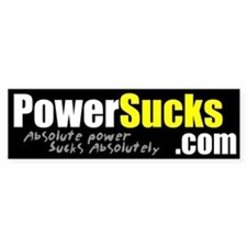 PowerSucks.com Bumper Bumper Sticker