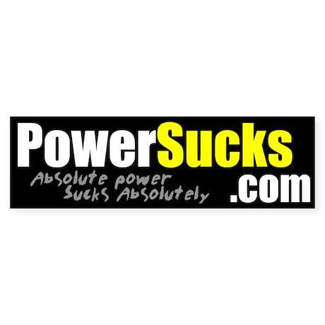PowerSucks.com Bumper Sticker