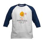 English Soccer Football Chick Kids Baseball Jersey