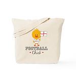 English Soccer Football Chick Tote Bag