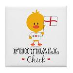English Soccer Football Chick Tile Coaster