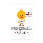 English Soccer Football Chick Sticker (Rectangle 1