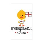 English Soccer Football Chick Sticker (Rectangle 5