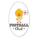 English Soccer Football Chick Sticker (Oval 50 pk)