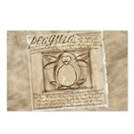 Vitruvian Penguin Postcards (Package of 8)