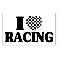 I (Checker) Heart Racing Decal
