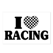 I (Checker) Heart Racing Postcards (Package of 8)
