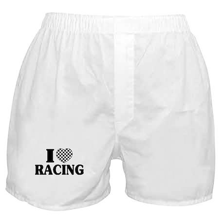 I (Checker) Heart Racing Boxer Shorts