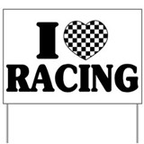 Auto racing Yard Signs
